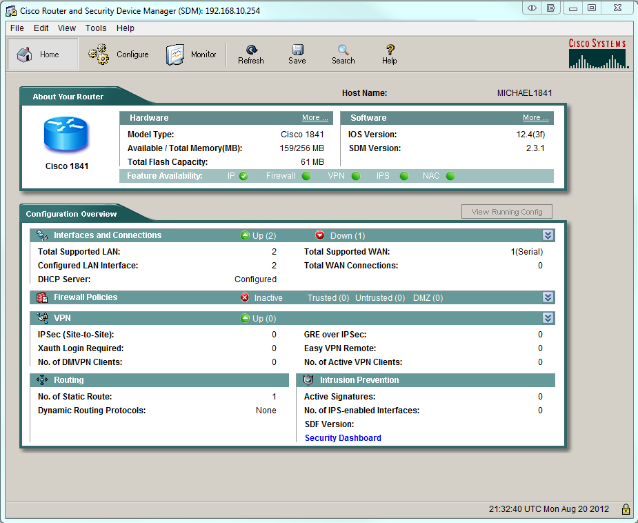 How To* Configure and get started with Cisco 1841