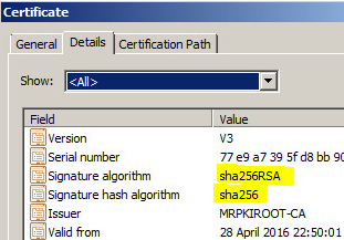 Upgrading your Internal PKI Infrastructure from SHA1 to SHA2 – The